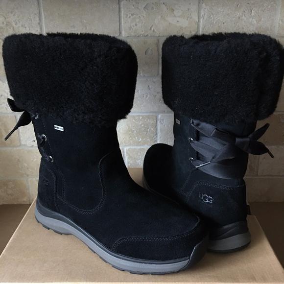 Ingalls Waterproof Suede Boots Black